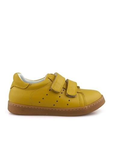Cicibebe Deri Erkek Çocuk Ayakkabısı Sarı